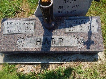 HARP, TOY ANN - Christian County, Missouri | TOY ANN HARP - Missouri Gravestone Photos