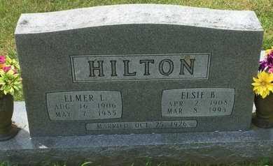HILTON, ELSIE B - Christian County, Missouri | ELSIE B HILTON - Missouri Gravestone Photos