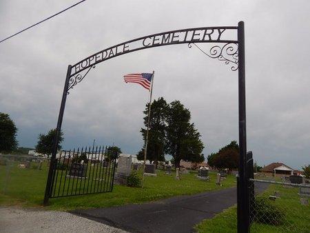 *, HOPEDALE CEMETERY ENTRANCE - Christian County, Missouri | HOPEDALE CEMETERY ENTRANCE * - Missouri Gravestone Photos