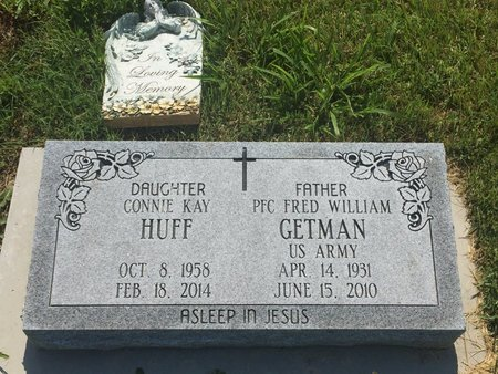 GETMAN HUFF, CONNIE KAY - Christian County, Missouri | CONNIE KAY GETMAN HUFF - Missouri Gravestone Photos