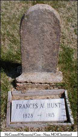 HUNT, FRANCES A. - Christian County, Missouri | FRANCES A. HUNT - Missouri Gravestone Photos