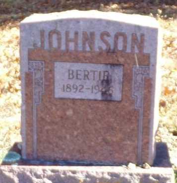 JOHNSON, BERTIE - Christian County, Missouri   BERTIE JOHNSON - Missouri Gravestone Photos