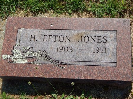 JONES, H EFTON - Christian County, Missouri | H EFTON JONES - Missouri Gravestone Photos