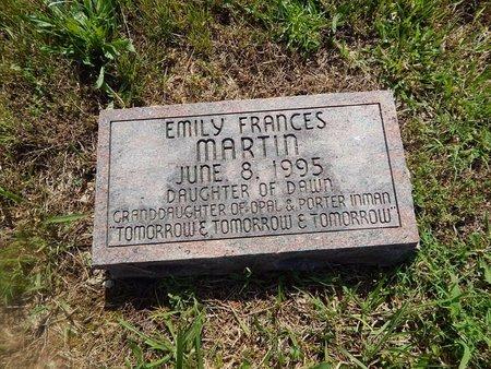 MARTIN, EMILY FRANCES - Christian County, Missouri   EMILY FRANCES MARTIN - Missouri Gravestone Photos