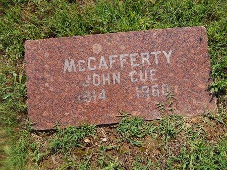 MCCAFFERTY, JOHN CUE - Christian County, Missouri | JOHN CUE MCCAFFERTY - Missouri Gravestone Photos