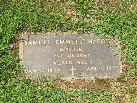 MCCOWN, SAMUEL EMMETT (VETERAN WWI) - Christian County, Missouri | SAMUEL EMMETT (VETERAN WWI) MCCOWN - Missouri Gravestone Photos