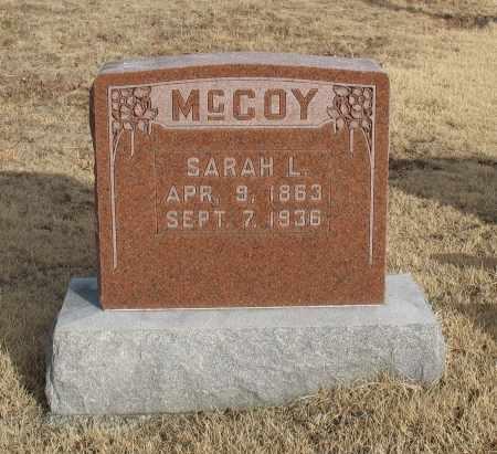 MCCOY, SARAH L. - Christian County, Missouri | SARAH L. MCCOY - Missouri Gravestone Photos
