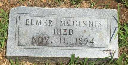 MCGINNIS, ELMER - Christian County, Missouri | ELMER MCGINNIS - Missouri Gravestone Photos