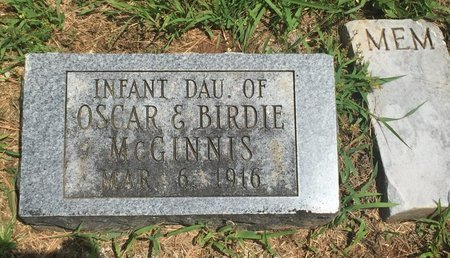 MCGINNIS, INFANT DAUGHTER - Christian County, Missouri | INFANT DAUGHTER MCGINNIS - Missouri Gravestone Photos