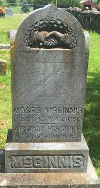 MCGINNIS, MOSES - Christian County, Missouri | MOSES MCGINNIS - Missouri Gravestone Photos