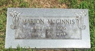 MCGINNIS, MARION - Christian County, Missouri | MARION MCGINNIS - Missouri Gravestone Photos