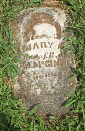 MCGINNIS, MARY A - Christian County, Missouri   MARY A MCGINNIS - Missouri Gravestone Photos