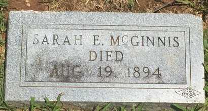 MCGINNIS, SARAH E - Christian County, Missouri | SARAH E MCGINNIS - Missouri Gravestone Photos