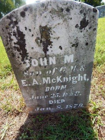 MCKNIGHT, JOHN M - Christian County, Missouri | JOHN M MCKNIGHT - Missouri Gravestone Photos