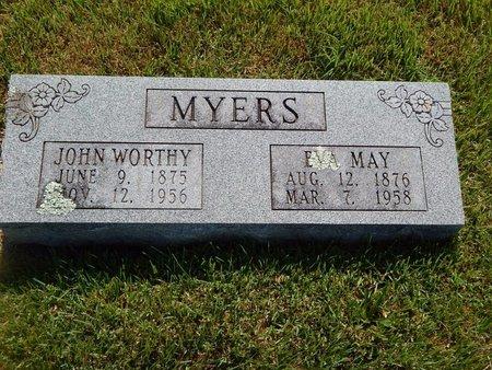 MYERS, JOHN WORTHY - Christian County, Missouri | JOHN WORTHY MYERS - Missouri Gravestone Photos