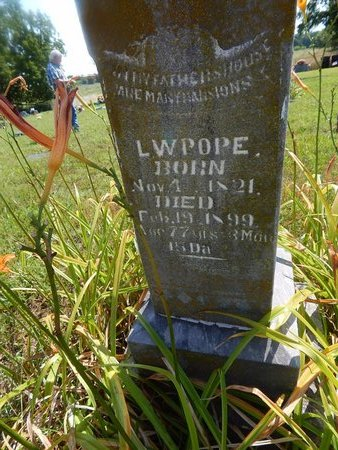 POPE, L W (CLOSE-UP) - Christian County, Missouri | L W (CLOSE-UP) POPE - Missouri Gravestone Photos