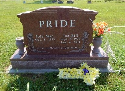 PRIDE, JOE BILL - Christian County, Missouri | JOE BILL PRIDE - Missouri Gravestone Photos