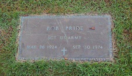 PRIDE, BOB VETERAN - Christian County, Missouri | BOB VETERAN PRIDE - Missouri Gravestone Photos