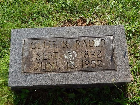 RADER, OLLIE R - Christian County, Missouri   OLLIE R RADER - Missouri Gravestone Photos