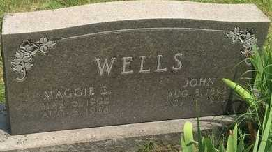 WELLS, MAGGIE E - Christian County, Missouri | MAGGIE E WELLS - Missouri Gravestone Photos