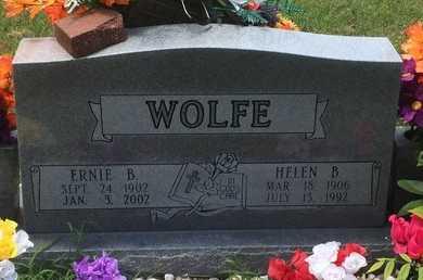 WOLFE, ERNIE B - Christian County, Missouri | ERNIE B WOLFE - Missouri Gravestone Photos