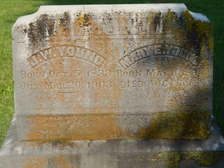YOUNG, MARY E - Christian County, Missouri | MARY E YOUNG - Missouri Gravestone Photos