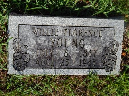 YOUNG, WILLIE FLORENCE - Christian County, Missouri | WILLIE FLORENCE YOUNG - Missouri Gravestone Photos