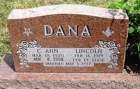 DANA, LINCOLN - Clay County, Missouri | LINCOLN DANA - Missouri Gravestone Photos