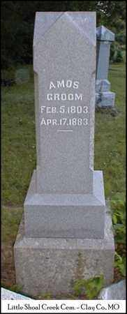 GROOM, AMOS - Clay County, Missouri | AMOS GROOM - Missouri Gravestone Photos