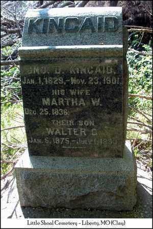 KINCAID, MARTHA W. - Clay County, Missouri | MARTHA W. KINCAID - Missouri Gravestone Photos