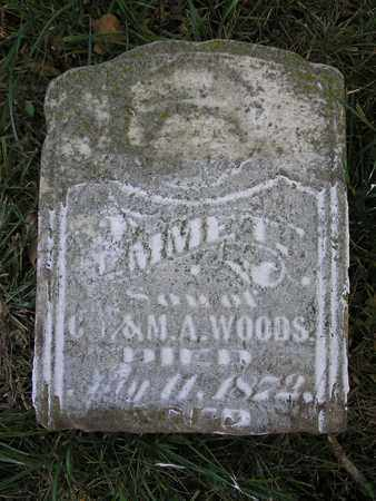 WOODS, EMMET - Clay County, Missouri | EMMET WOODS - Missouri Gravestone Photos