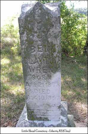 WREN, BEN CLAYTON - Clay County, Missouri   BEN CLAYTON WREN - Missouri Gravestone Photos