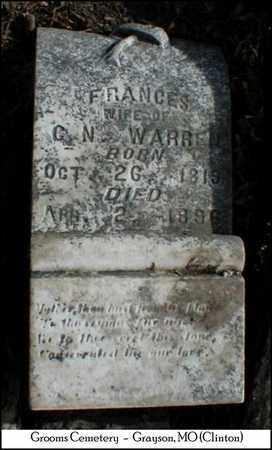 GROOMS WARREN, FRANCES - Clinton County, Missouri | FRANCES GROOMS WARREN - Missouri Gravestone Photos