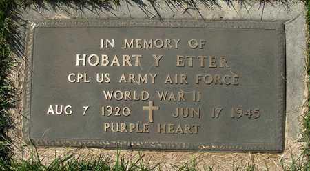 ETTER, HOBERT Y VETERAN WWII - Cole County, Missouri | HOBERT Y VETERAN WWII ETTER - Missouri Gravestone Photos