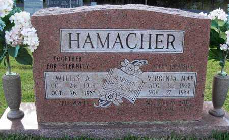 HAMACHER, WILLIS A - Cole County, Missouri | WILLIS A HAMACHER - Missouri Gravestone Photos