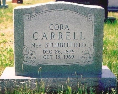 STUBBLEFIELD CARRELL, CORA - Crawford County, Missouri | CORA STUBBLEFIELD CARRELL - Missouri Gravestone Photos