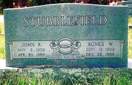 WARREN STUBBLEFIELD, AGNES OPAL - Crawford County, Missouri | AGNES OPAL WARREN STUBBLEFIELD - Missouri Gravestone Photos