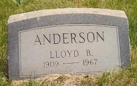 ANDERSON, LLOYD BENNETT - Dade County, Missouri | LLOYD BENNETT ANDERSON - Missouri Gravestone Photos