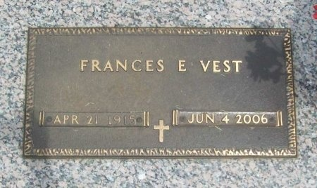 VEST, FRANCES E. - Dallas County, Missouri   FRANCES E. VEST - Missouri Gravestone Photos