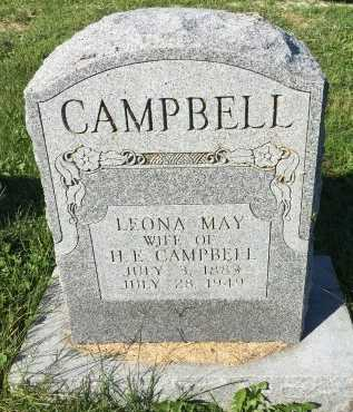 CAMPBELL, LEONA MAY - DeKalb County, Missouri | LEONA MAY CAMPBELL - Missouri Gravestone Photos