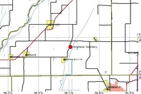 *, HUTCHENS CEMETERY LOCATION - Dunklin County, Missouri   HUTCHENS CEMETERY LOCATION * - Missouri Gravestone Photos