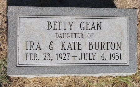 BURTON, BETTY GEAN - Dunklin County, Missouri | BETTY GEAN BURTON - Missouri Gravestone Photos