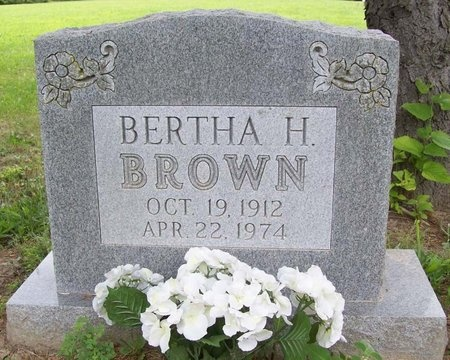 BROWN, BERTHA H. - Franklin County, Missouri | BERTHA H. BROWN - Missouri Gravestone Photos