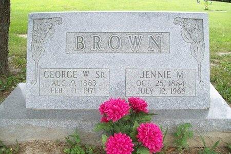 BROWN, JENNIE M. - Franklin County, Missouri | JENNIE M. BROWN - Missouri Gravestone Photos