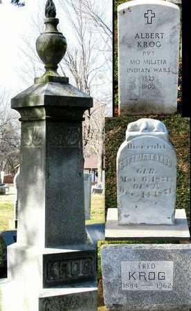 KROG, ALBERT VETERAN INDIAN WARS - Franklin County, Missouri | ALBERT VETERAN INDIAN WARS KROG - Missouri Gravestone Photos