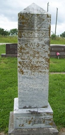 TAYLOR, LEWIS E (VETERAN) - Franklin County, Missouri | LEWIS E (VETERAN) TAYLOR - Missouri Gravestone Photos