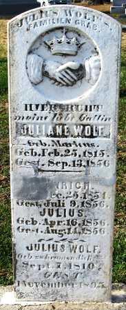 WOLF, JULIUS, JR - Franklin County, Missouri   JULIUS, JR WOLF - Missouri Gravestone Photos