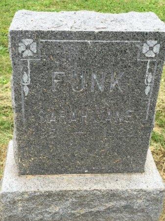 FUNK, SARAH JANE - Gentry County, Missouri | SARAH JANE FUNK - Missouri Gravestone Photos