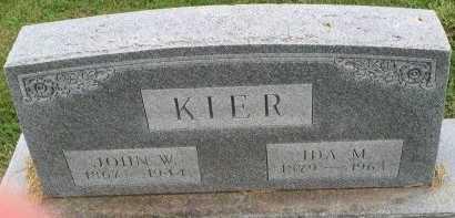 KIER, JOHN WALKER YOUNG - Gentry County, Missouri | JOHN WALKER YOUNG KIER - Missouri Gravestone Photos