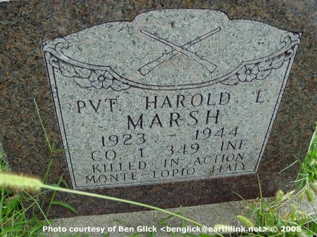 MARSH, HAROLD LESLIE SR (VETERAN WWII KIA) - Gentry County, Missouri   HAROLD LESLIE SR (VETERAN WWII KIA) MARSH - Missouri Gravestone Photos